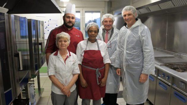 Inauguration de la cuisine de l'Ehpad de l'albergue